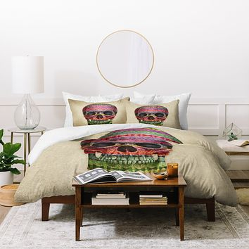 Terry Fan Navajo Skull Duvet Cover