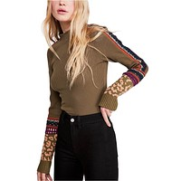 Free People - Switch It Up Cuff Thermal Top In Army