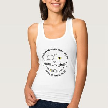 Funny Pirate Smiling Black Cat With An Eye Patch Tank Top