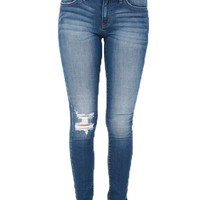 Kan Can Dark Wash Sarah Ankle Skinny Jeans
