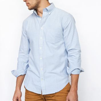 Brushed Blue Oxford Dress Shirt