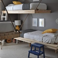 Bedroom For Three Boys With DIY Hanging Beds  DigsDigs picture on VisualizeUs