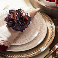 Blue Violet Hydrangea Flower Napkin Ring