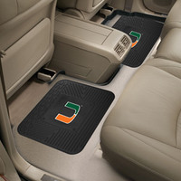 "University of Miami  Backseat Utility Mats 2 Pack 14""x17"""