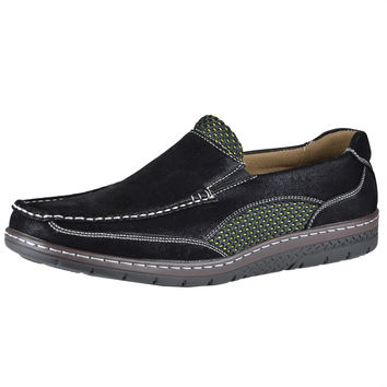 Mens Casual Shoes Two Tone Mesh Casual Loafers Black SZ