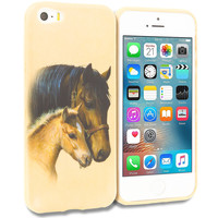 Horse TPU Design Rubber Skin Case Cover for Apple iPhone 5/5S/SE