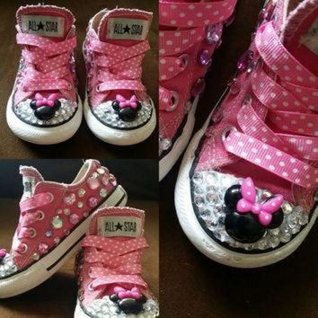DCKL9 Pink Minnie Mouse Converse