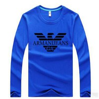 Armani Casual Long Sleeve Top Sweater  Pullover