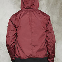 Contrast Hooded Windbreaker