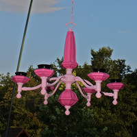 Bright Pink and Black Candelabra/ Outdoor by AquaXpressions