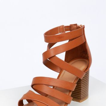 Double Strappy Wooden Heel Natural