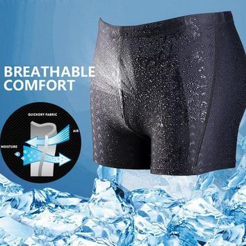 Men's Breathable Quick-Dry Tight Swim Trunks
