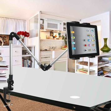 "Universal Desk Bed Lazy Mount Holder Stand Bracket Clamp for All The 7""-10"" Tablet PC (Color: Black) = 1841358468"