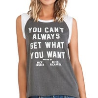 Junk Food Get What You Want Muscle Tee in Charcoal