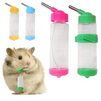 Nice 1 pc 125ml Water Bottles Dog Feeders for Dog Bird Rabbit Hamster Pet Hanging Bottle Auto Feeder Water Dispenser