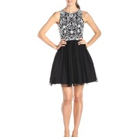 Aidan by Aidan Mattox Women's Bead Bodice Party Dress
