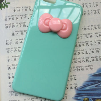 the big pink bow,personalized protective case for iPhone 6 iPhone 6 plus iPhone5/s, summer gif,t hard case,best friends gift