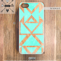 iPhone Case Wood Print, iPhone 4 Case Silicone Rubber iPhone Case, Plastic iPhone Case, iPhone 5 Case, iPhone 4S Case - Tribal Cases