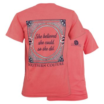 Southern Couture She Believed She Could Comfort Colors T-Shirt