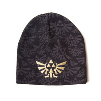 The Legend of Zelda - Black Embroidered Beanie