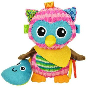 MDIGFS2 Sozzy Cute Gift Plush Soft Toy Animal owl toy with Sound Paper and Teether Baby Kid Child Girls Christmas Gifts 20% off
