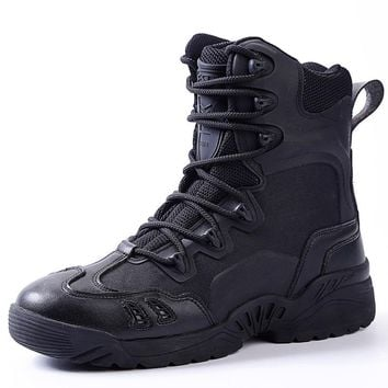 ESDY Outdoor sport shoes climbing men's Combat Desert Military Tactical breathable high assault boots non-slip hiking shoes