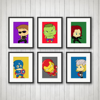 Superhero Decor  - Comic Book, Boy's Room Decor, Playroom, Super Hero Nursery, Superhero Prints, 5x7 or 8x10 Prints