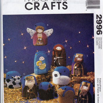 Pattern: Christmas Nativity Scene Ornaments McCall's 2996
