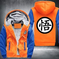Goku Dragon Ball Z Thick Winter Hoodie Jacket Sweatshirt