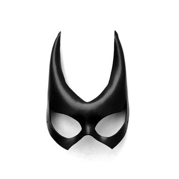 Batgirl Leather Mask Black Super Hero Gift Sexy Halloween Masquerade Heroic Cosplay Hotness Carnival Mardi Gras Batman Costume Party