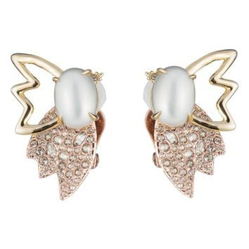 Alexis Bittar Imitation Pearl Butterfly Clip Earrings | Nordstrom