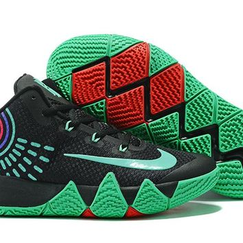 Nike Kyrie Irving 4 Black Green Sport Shoes US7-12