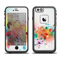 The Neon Colored Watercolor Branch Skin Set for the Apple iPhone 6 LifeProof Fre Case