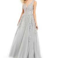 Abbi Vonn by La Femme Embroidered Ball Gown | Dillards