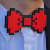 3D Printed 8-bit Minecraft Bow Tie For Men Arcade Wedding Bow Tie Nerdy Retro Dorky Gifts for Dad Gift Eco Friendly Biodegradable PLA ties3d