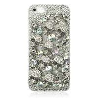 3D Luxury Metal Skull Rhinestone Case For iPhone 5