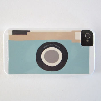 Camera Blue Vintage Retro IPhone 4/4s case by redtilestudio
