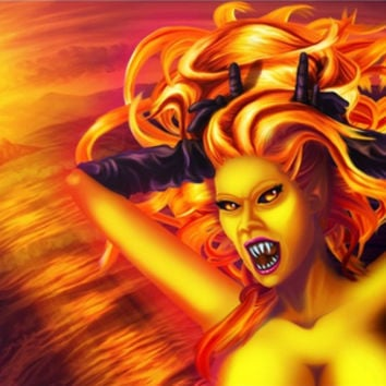 Mad Dolores Goddess of fire by exobiology (Nina Vels)