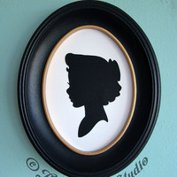 Wendy Darling Hand-Cut Paper Silhouette Portrait