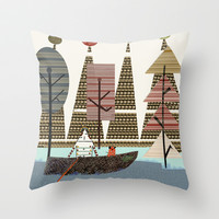 into the wild  Throw Pillow by bri.buckley