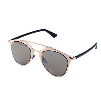 ESBU3C Selljimshop High quality women brand designer Metal Frame Aviator Mirror sunglasses Classic Cat Eye Glasses Hot Freeshipping