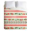 Allyson Johnson Floral Stripes And Arrows Duvet Cover
