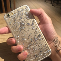 Silver Shining Case Cover for iPhone 7 iPhone 5s 5 SE 6 6S 6 Plus 6S Plus + Free Shipping + Gift Box 459
