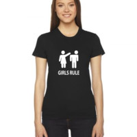 girls rule Ladies Fitted T-Shirt
