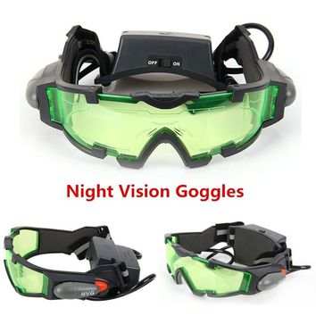 Green Lens Adjustable Elastic Band Night Vision Goggles Glasses eyeshield