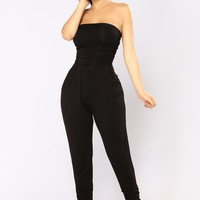 Isabelle Tube Jumpsuit - Black