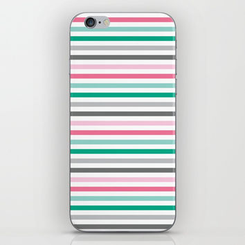 Colorful stripes iPhone Skin by Knm Designs