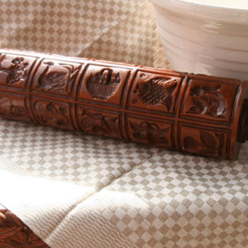 Gingerhaus-House on the Hill Showstopper Gingerbread Springerle Rolling Pin