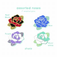 [PRE-ORDER] Assorted Rose Pins (1♪) by plupip ❄️ piplup