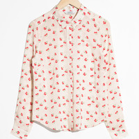 Cherry Print Button Down - White - Shirts - & Other Stories US